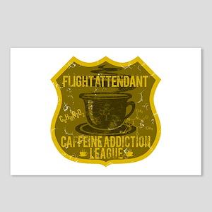 Flight Attendant Caffeine Addiction Postcards (Pac