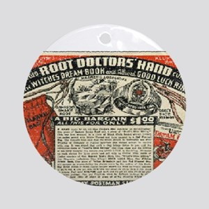 Root Doctor's Hand Ornament (Round)