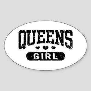 Queens Girl Sticker (Oval)