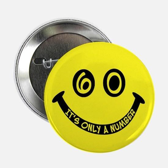 60th birthday smiley face Button