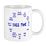 Jazz Time Blue Mug
