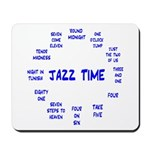 Jazz Time Blue Mousepad