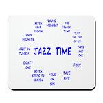 Jazz Time Blue Mousepad