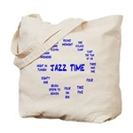 Jazz Time Blue Tote Bag