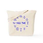 Jazz Time Blue Tote Bag