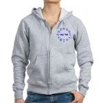 Jazz Time Blue Women's Zip Hoodie