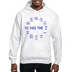 Jazz Time Blue Hooded Sweatshirt