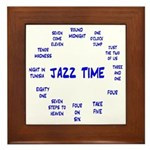 Jazz Time Blue Framed Tile