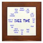 Jazz Time Blue Framed Tile