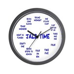 Jazz Time Blue Wall Clock