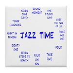 Jazz Time Blue Tile Coaster