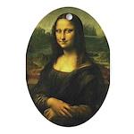 Mona Lisa Ornament (Oval)