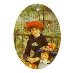 Renoir Ornament (Oval)