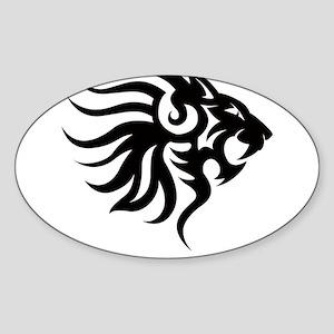 Tribal Tattoo Lion Sticker (Oval)