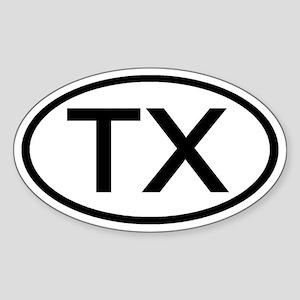 Texas - TX - US Oval Oval Sticker