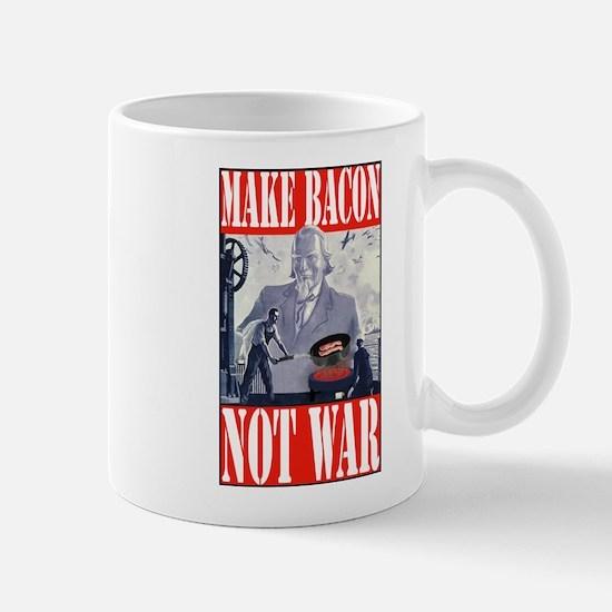 Make Bacon Not War Mug