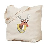 Naughty Reindeer Design Tote Bag