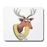 Naughty Reindeer Design Mousepad