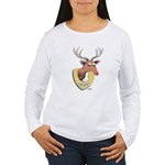 Naughty Reindeer Design Women's Long Sleeve T-Shir