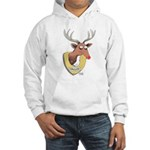 Naughty Reindeer Design Hooded Sweatshirt