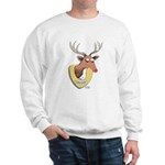 Naughty Reindeer Design Sweatshirt