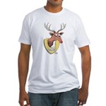 Naughty Reindeer Design Fitted T-Shirt