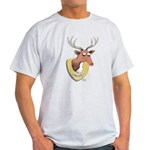 Naughty Reindeer Design Light T-Shirt