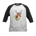 Naughty Reindeer Design Kids Baseball Jersey