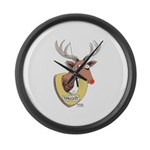Naughty Reindeer Design Large Wall Clock