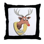 Naughty Reindeer Design Throw Pillow
