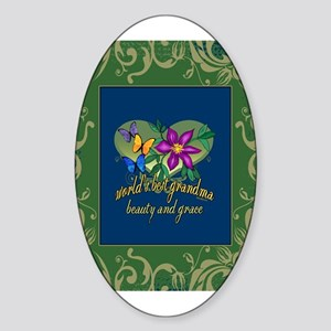 Beautiful Grandma Sticker (Oval)