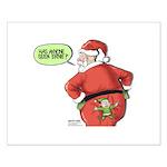 Lost Santa Elf Design Small Poster