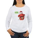 Lost Santa Elf Design Women's Long Sleeve T-Shirt