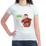 Lost Santa Elf Design Jr. Ringer T-Shirt