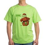 Lost Santa Elf Design Green T-Shirt