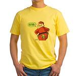 Lost Santa Elf Design Yellow T-Shirt