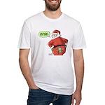 Lost Santa Elf Design Fitted T-Shirt
