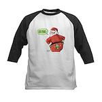 Lost Santa Elf Design Kids Baseball Jersey