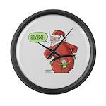 Lost Santa Elf Design Large Wall Clock