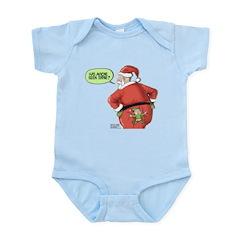 Lost Santa Elf Design Infant Bodysuit