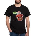 Lost Santa Elf Design Dark T-Shirt