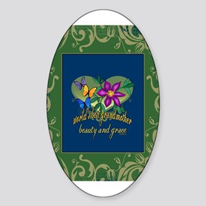 Beautiful Grandmother Sticker (Oval)