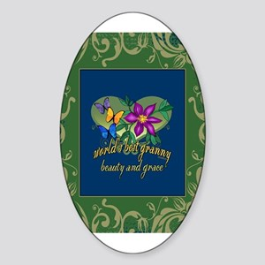 Beautiful Granny Sticker (Oval)