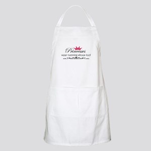 Princesses wear running shoes Apron