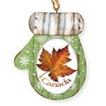 Canada Maple Leaf Souvenir Mitten Ornament