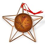 Canada Maple Leaf Souvenir Copper Star Ornament