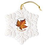 Canada Maple Leaf Souvenir Snowflake Ornament