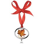 Canada Maple Leaf Souvenir Oval Year Ornament