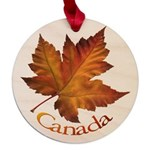Canada Maple Leaf Souvenir Maple Round Ornament