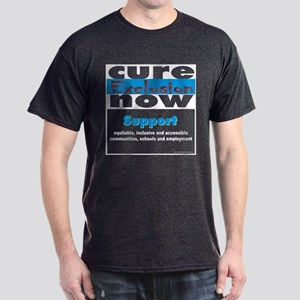 Cure Exclusion Now Black T-Shirt